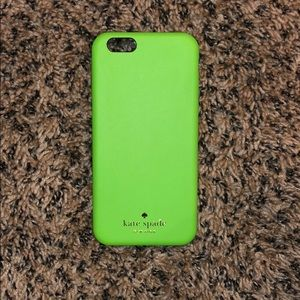 Green Leather Kate Spade Phone Case